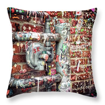 Throw Pillow featuring the photograph Gum Drop Alley by Spencer McDonald