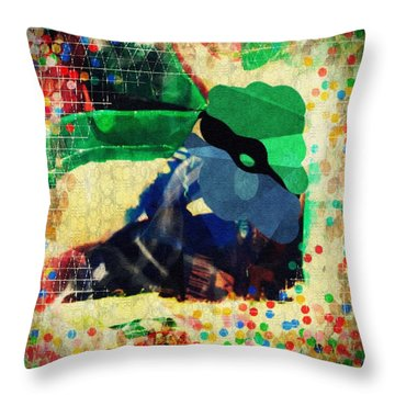 Gumballs And Races Throw Pillow