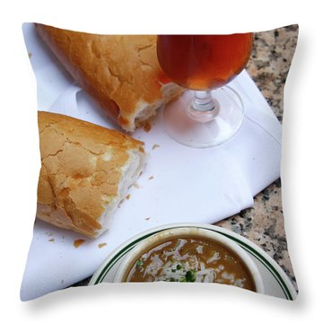 Gumbo Lunch Throw Pillow