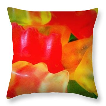 Gummies Throw Pillow