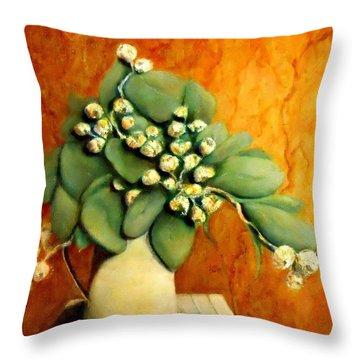 Gumnuts Still Life Throw Pillow