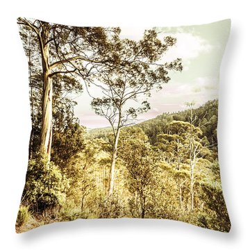 Throw Pillow featuring the photograph Gumtree Bushland by Jorgo Photography - Wall Art Gallery