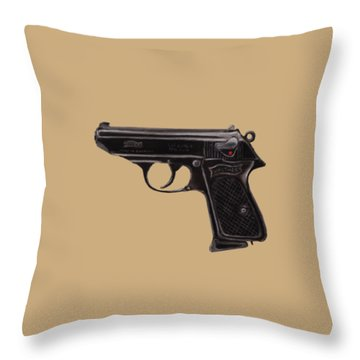 Gun - Pistol - Walther Ppk Throw Pillow