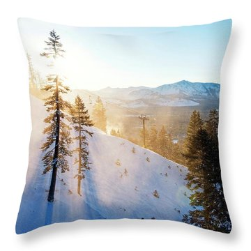 Gunbarrel Rays By Brad Scott Throw Pillow