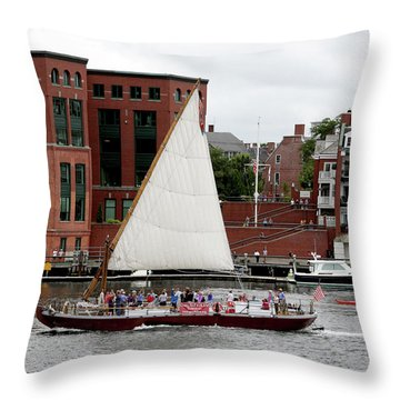 Gundalow Throw Pillow