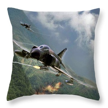 Gunfighters Throw Pillow by Peter Chilelli