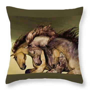 Gunmetal Throw Pillow