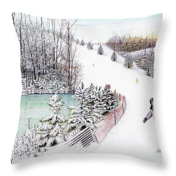 Gunnar Slope And The Ducky Pond Throw Pillow