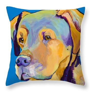 Gunner Throw Pillow by Pat Saunders-White