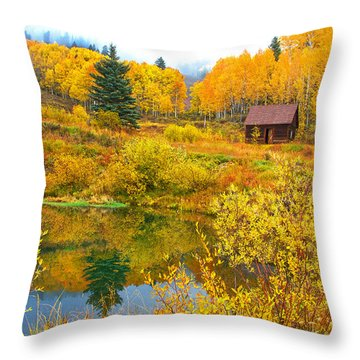 Gunnison Reflection  Throw Pillow