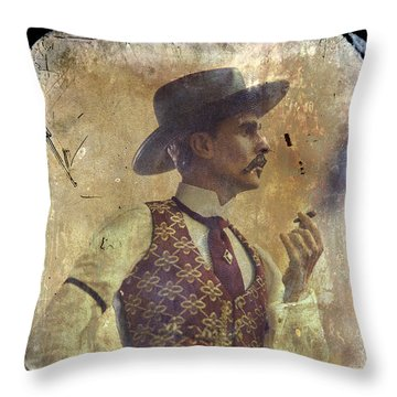 Gunslinger IIi Doc Holliday In Fine Attire Throw Pillow by Toni Hopper