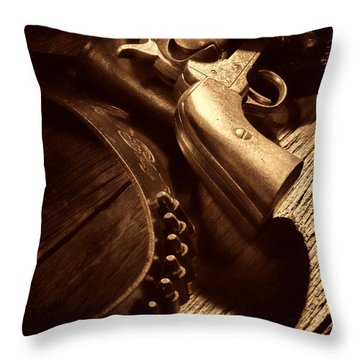 Gunslinger Tool Throw Pillow by American West Legend By Olivier Le Queinec