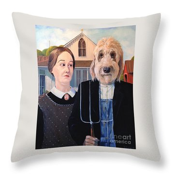 Gunther Goes Goth Throw Pillow