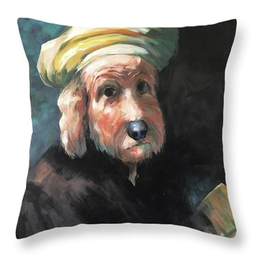 Gunther's Self Portrait Throw Pillow