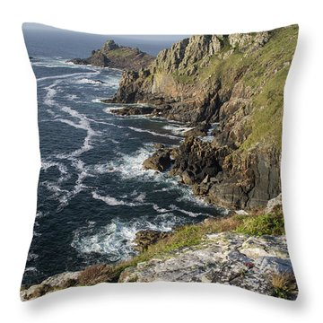 Gurnards Head In Cornwall Throw Pillow