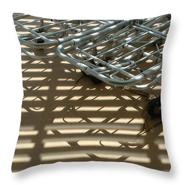Gurneys Under A Pergola Through A Picture Window Throw Pillow by Stan  Magnan
