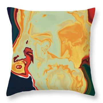 Gurudev Throw Pillow by Rabi Khan