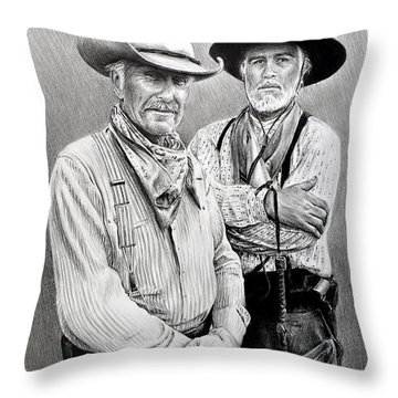Gus And Woodrow Throw Pillow