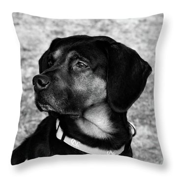 Gus - Black And White Throw Pillow