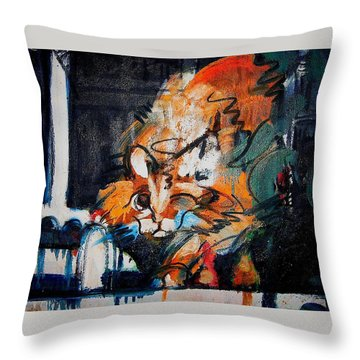 Throw Pillow featuring the painting Gus by Les Leffingwell