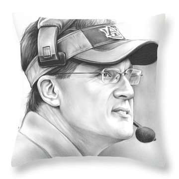 Gus Malzahn Throw Pillow