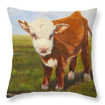Gus, Cow Throw Pillow