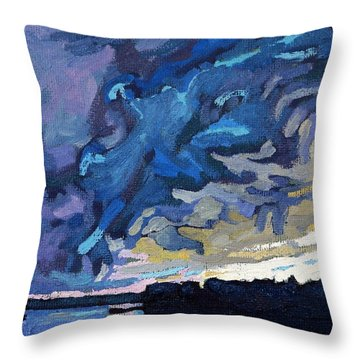 Gust Front Throw Pillow
