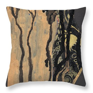Gustav Klimt's Tears Throw Pillow