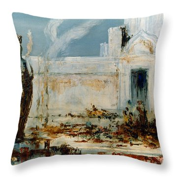 Gustave Moreau: Helene Throw Pillow by Granger