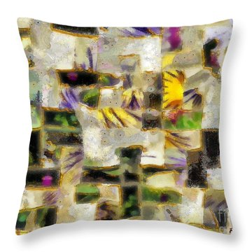 Gustav's Quilt Throw Pillow by RC DeWinter