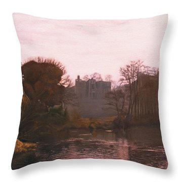 Guys Cliffe House Warwick England Throw Pillow