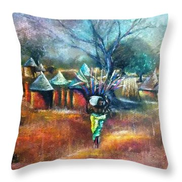 Gwari Village In Abuja Nigeria Throw Pillow