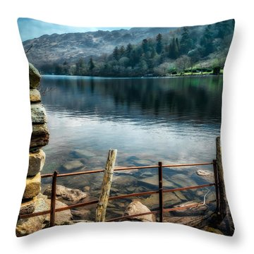 Throw Pillow featuring the photograph Gwynant Lake by Adrian Evans