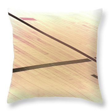 Gym Floor Throw Pillow