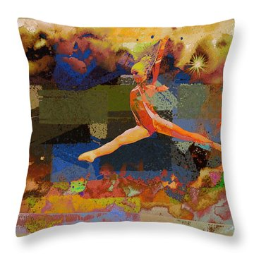 Gymnast Girl Throw Pillow
