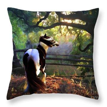 Throw Pillow featuring the digital art Gypsy Fall by Melinda Hughes-Berland