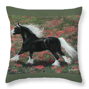 Gypsy Fire Throw Pillow by Louise Green