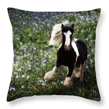 Throw Pillow featuring the digital art Gypsy Garden by Melinda Hughes-Berland