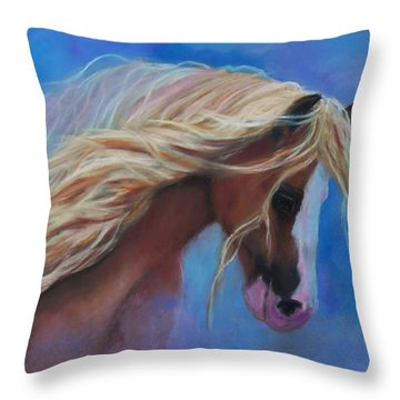 Throw Pillow featuring the pastel Gypsy In The Wind by Karen Kennedy Chatham
