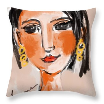 Gypsy Lady Throw Pillow by Elaine Lanoue