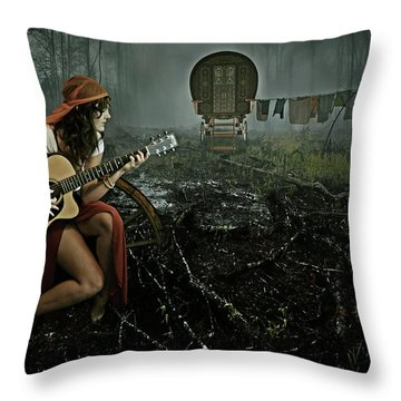 Gypsy Life Throw Pillow by Mihaela Pater