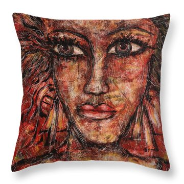 Gypsy Throw Pillow by Natalie Holland