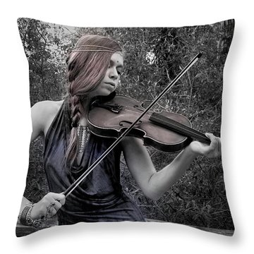 Gypsy Player II Throw Pillow