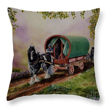 Gypsy Road Throw Pillow