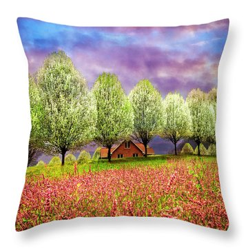 Gypsy Wind In Pink Throw Pillow