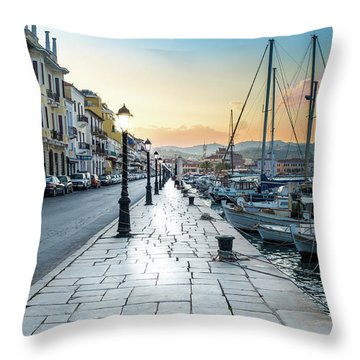 Gythion / Greece Throw Pillow