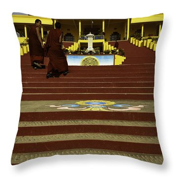 Gyuto Monastery Throw Pillow by Rajiv Chopra