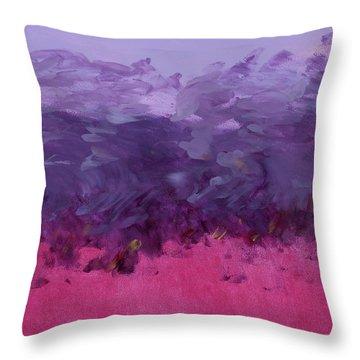 Purple Wisdom Rising  Throw Pillow
