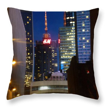 H M Building Throw Pillow by Helen Haw