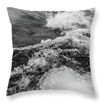 Throw Pillow featuring the photograph H2O by Alex Lapidus